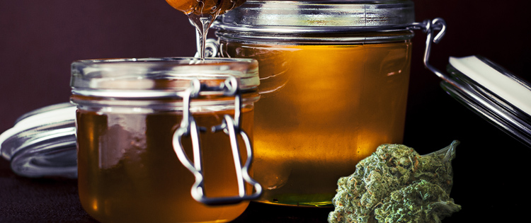 Honey with cannabis