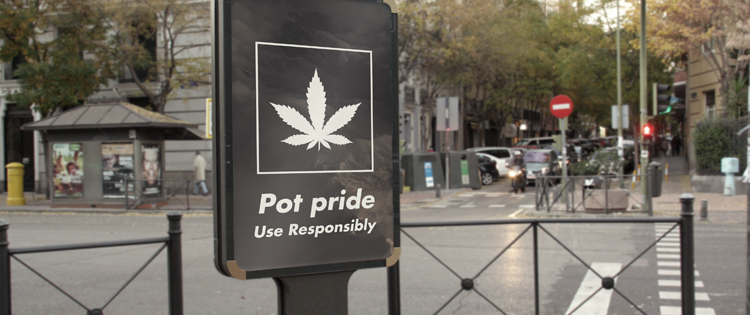 Cannabis use signage