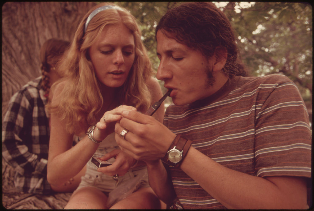 Vintage Photos of Teens Smoking Marijuana in Texas in the 70's Cannabis Counterculture