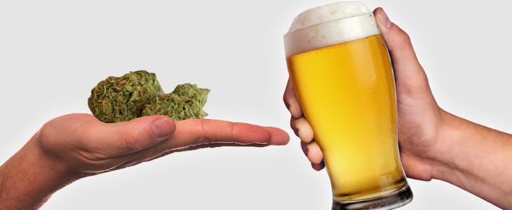 Most people are aware of the huge difference in effects on our health between Cannabis and Alcohol