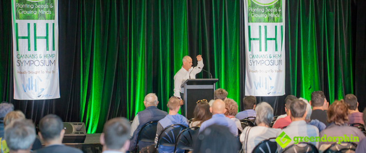 Dr. Andrew Kavasilas at the Hemp Health Innovation Expo in Sydney.