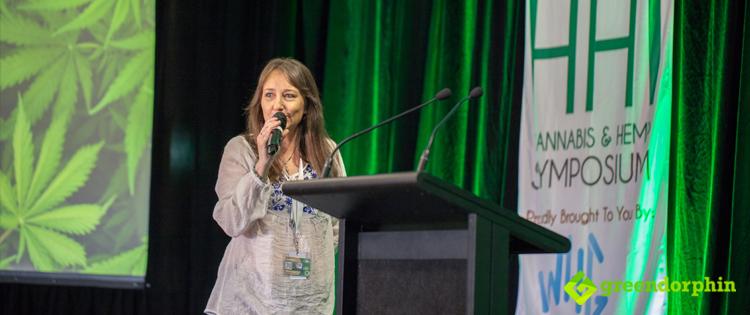 Jenny Hallam at the Hemp Health Innovation Expo in Sydney