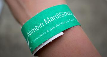 The 25th MardiGrass Cannabis Law Reform Rally in Nimbin Australia
