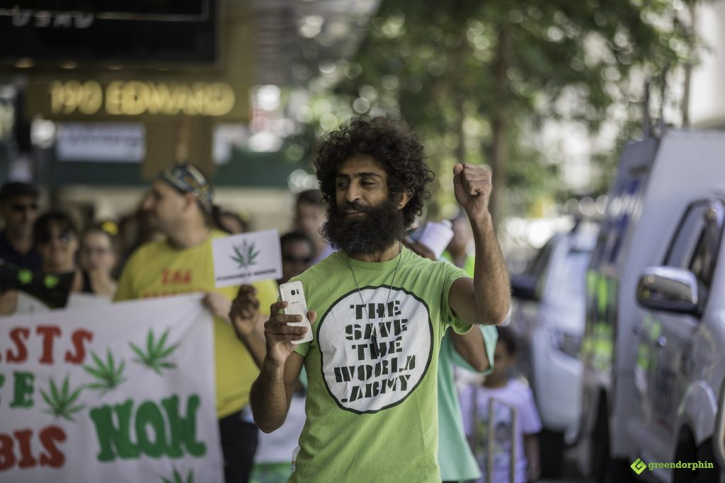 Medical Cannabis Law Reform Rally and March in Brisbane 14 Nov 2017