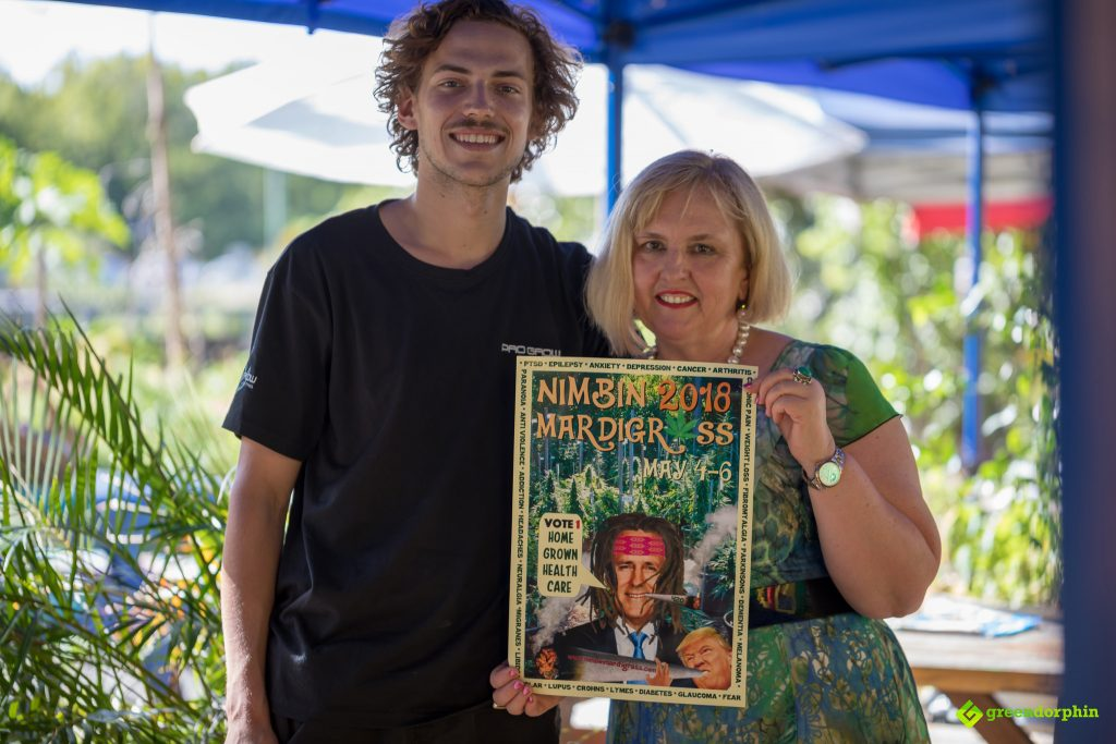 Dr Teresa Towpik and Matt in Nimbin