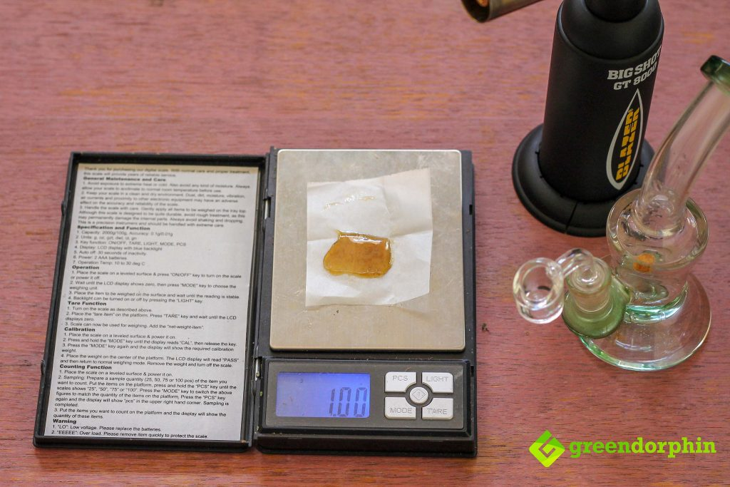 1 gram cannabis concentrate