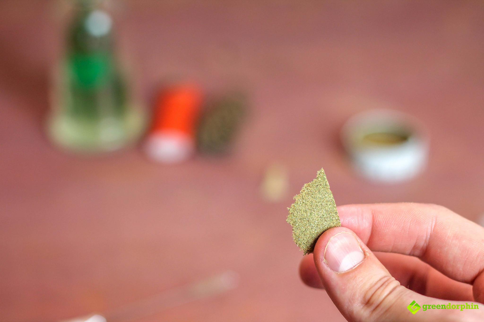 turn your kief into hash flake of hash